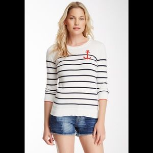 C. Wonder Anchor Stripe Intarsia Sweater